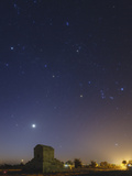 Venus and Winter Constellations, Orion, Taurus, and Auriga, Above the Tomb of Cyrus the Great Photographic Print by Babak Tafreshi