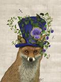 Fox Mad Hatter Plakaty autor Fab Funky