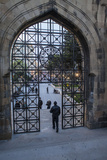 A Pedestrian Walks Through the Old City Gate in Baku Photographic Print by Will Van Overbeek
