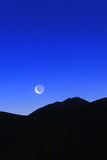 Crescent Moon at Dawn over the Alborz Mountains and the Haraz Valley of Iran Photographic Print by Babak Tafreshi