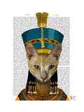 Egyptian Queen Cat Premium Giclee Print by  Fab Funky