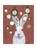 Rabbit Time Premium Giclee Print by  Fab Funky