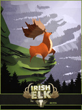 Big Buck Irish Elk Poster di Anthony Salinas