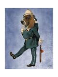 Basset Hound Policeman Premium Giclee Print by  Fab Funky