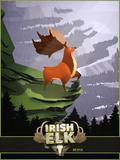 Big Buck Irish Elk Plastic Sign by Anthony Salinas