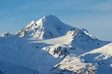 A Scenic View of Jagged, Snow-Covered Peaks in the Chilkat Range Photographic Print by Bob Smith