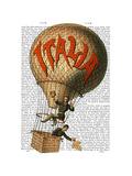 Italia Hot Air Balloon Prints by  Fab Funky