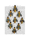 Medieval Bees Posters by  Fab Funky