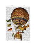 Hot Air Balloon with Flags Posters by  Fab Funky