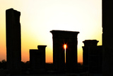 Sunset at Persepolis. Tachara, the Palace of Darius I, Is in the Foreground Photographic Print by Babak Tafreshi