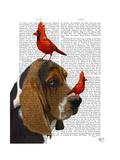 Basset Hound and Birds Prints by  Fab Funky