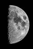 The Moon Seen Through a Telescope with the Lunar Terminator, or Day-Night Line Photographic Print by Babak Tafreshi
