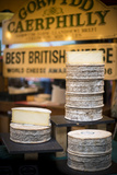 Caerphilly Cheese Stall in Borough Food Market in London Photographic Print by Alex Treadway