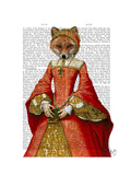 Fox Queen Premium Giclee Print by  Fab Funky