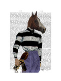 Horse Racing Jockey Portrait Prints by  Fab Funky