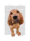 Bloodhound Puppy Posters by  Fab Funky