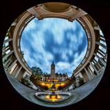 A Fisheye View of the Historic Schwerin Palace at Dusk Photographic Print by Babak Tafreshi