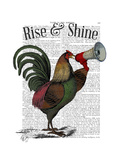 Rooster with Loudhailer Prints by  Fab Funky