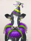 Fab Funky - Mardi Gras Cow - Poster
