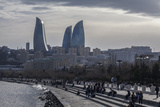 Cityscape of Baku on the Caspian Sea Photographic Print by Will Van Overbeek