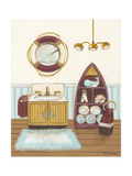 Nautical Bath II Premium Giclee Print by Wendy Russell