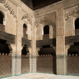 View of Part of Cloister and Courtyard of Bou Inania Madrasa, Fes, Morocco Photographic Print by Green Light Collection