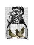 Pigeon Fancier Premium Giclee Print by  Fab Funky