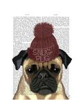 Snug Pug Prints by  Fab Funky