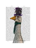 Goose in Purple Hat Print by  Fab Funky
