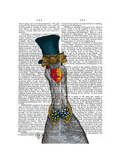 Goose in Blue Hat Poster by  Fab Funky