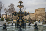 A Fountain Flows in Baku's Old City Photographic Print by Will Van Overbeek