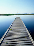 Fishing Dock at Rocky Point, Klamath Lake, Oregon Photographic Print by Green Light Collection