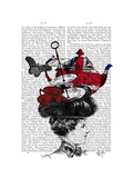 British Afternoon Tea Hat Premium Giclee Print by  Fab Funky
