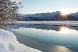 The Chilkat River with Heavy Snow and Mountains in the Background Photographic Print by Jak Wonderly