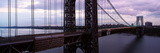 Panoramic View of George Washington Bridge over Hudson River from New York City, Ny Photographic Print by Panoramic Images