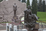 A Statue of President Haydar Aliyev at the Honorable Cemetery Photographic Print by Will Van Overbeek