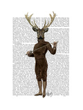 Fencing Deer Full Poster by  Fab Funky