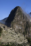 Mist Rises around the Inca Ruins of Machu Picchu after Sunrise Photographic Print by Gabby Salazar