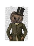 Hedgehog Rider Portrait Art by  Fab Funky