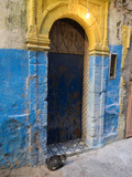Doorway in the Mellah the Former Jewish Quarter, Essaouira, Morocco Photographic Print by Green Light Collection