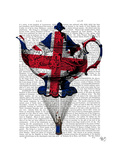 Union Jack Flying Teapot Poster by  Fab Funky
