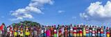 Colorful Customs and Necklaces of Rendille and Samburu Tribe Women in a Celebration Gathering Fotografisk tryk af Babak Tafreshi