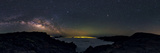 Panoramic 360-Degree View of the Milky Way's Rising Arc in a Starry Sky Above La Palma Island Photographic Print by Babak Tafreshi