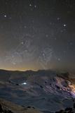 Bright Winter Stars Above Dizin Ski Piste in the Alborz Mountains of Iran Photographic Print by Babak Tafreshi