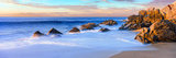 Rock Formations on the Beach at Sunrise, Lands End, Cabo San Lucas, Baja California Sur, Mexico Fotografie-Druck von Panoramic Images