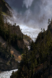 The Lower Yellowstone Falls and the Yellowstone River in the Grand Canyon of the Yellowstone Photographic Print by Babak Tafreshi