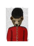Guardsman Bear Prints by  Fab Funky