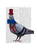 London Pigeon Prints by  Fab Funky