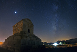 Jupiter and the Milky Way Above the Tomb of King Cyrus the Great Photographic Print by Babak Tafreshi