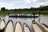 A Popular Activity in Chitwan National Park Is Getting a Ride in a Traditional Dugout Canoe Photographic Print by Jill Schneider
